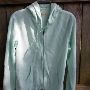 NWT Women's Mint Green Zip-Up Hollister Hoodie